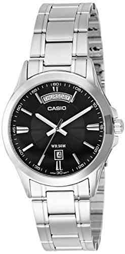 Casio Enticer MTP-1381D-1AVDF (A840) Analog Silver Dial Men's Watch (MTP-1381D-1AVDF (A840))