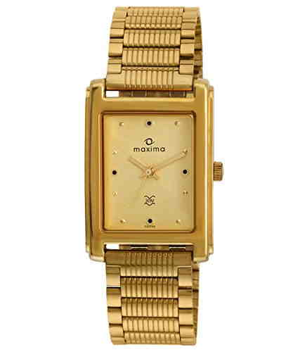Maxima 02335CPGY Formal Gold Analog Gold Dial Men's Watch (02335CPGY)