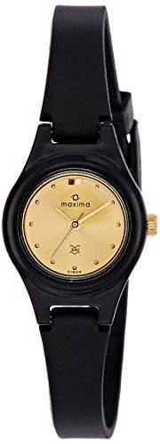 Maxima 01609PPLW Fiber Analog Gold Dial Women's Watch (01609PPLW)
