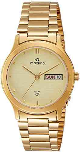 Maxima 27860CMGY Analog Yellow Gold Dial Men's Watch