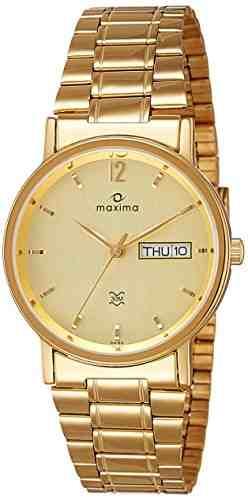 Maxima 04150CMGY Analog Gold Dial Men's Watch (04150CMGY)