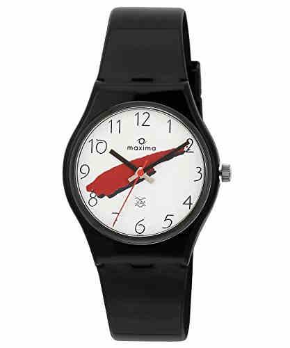 Maxima 02103PPGW Fiber Analog White Dial Men's Watch (02103PPGW)