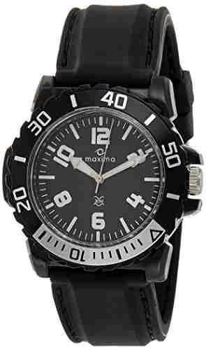Maxima 29728PPGW Hybrid Analog Black Dial Men's Watch