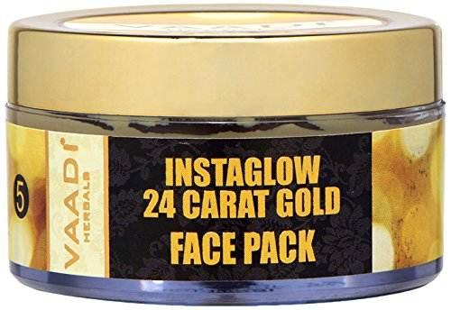 Vaadi Herbals Instaglow 24 Carat Gold Face Pack (70gm)