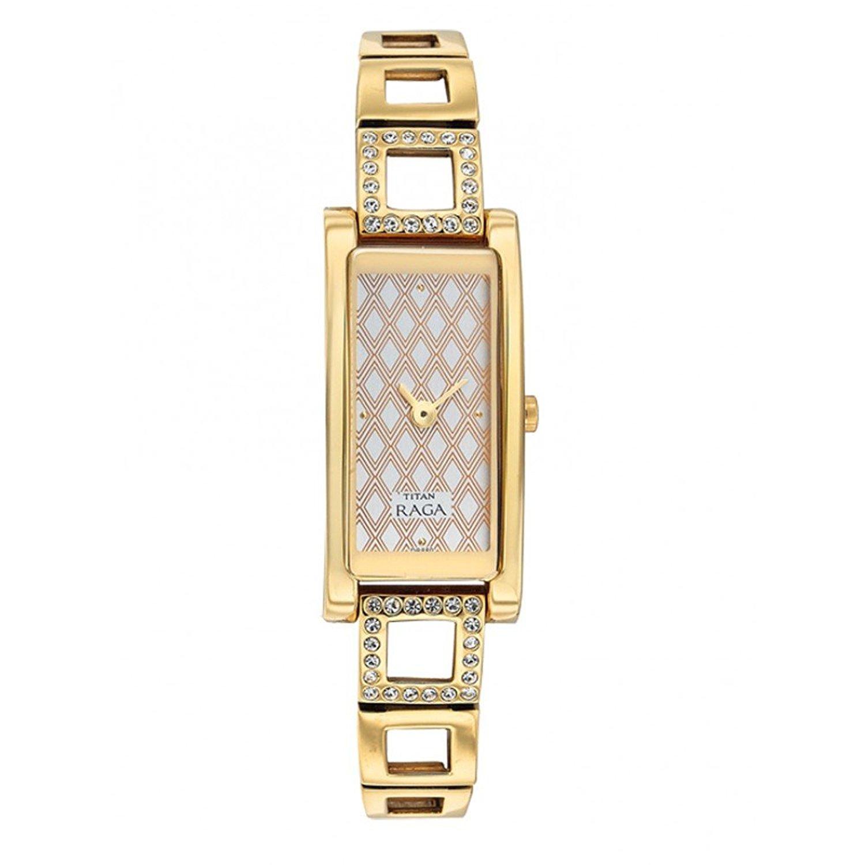 Titan Raga 9720YM02 Analogue White Dial Wrist Women's Watch (9720YM02)
