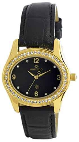 Maxima 29535LMLY Gold Swarovski Analog Watch (29535LMLY)