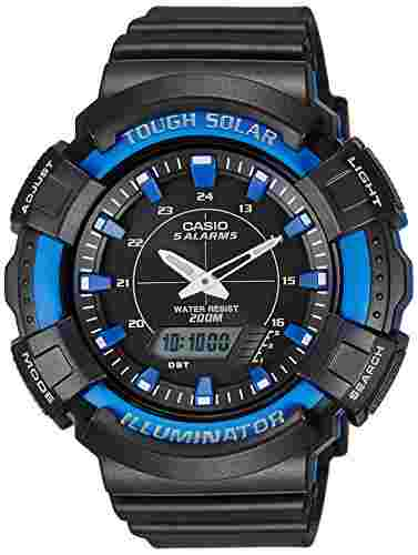 Casio Youth AD-S800WH-2A2VDF (AD187) Series Analog Digital Black Dial Unisex Watch (AD-S800WH-2A2VDF (AD187))