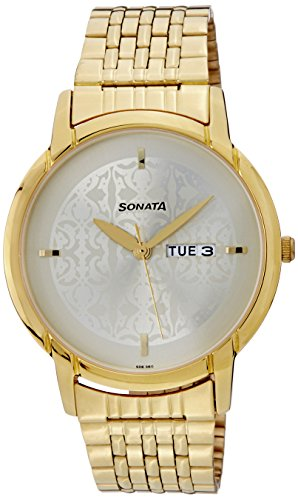 Sonata NH77031YM04 White Dial Analog Men's Watch (NH77031YM04)
