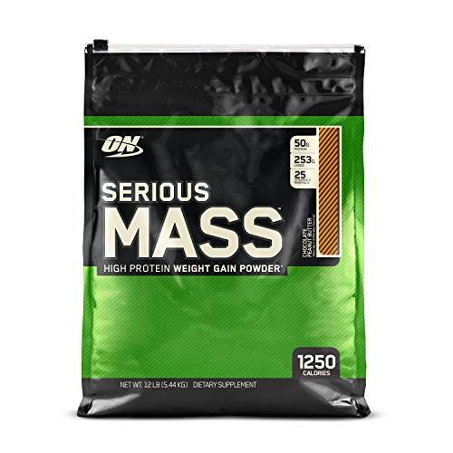 Optimum Nutrition (ON) Serious Mass Weight Gainer Protein Powder (5.44Kg, Chocolate Peanut Butter)