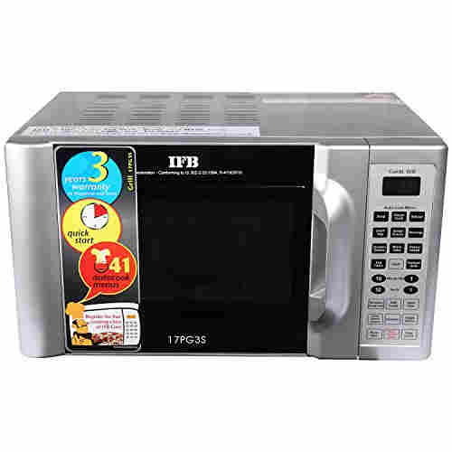 IFB 17 17PG3S Grill Microwave Oven Metallic Silver