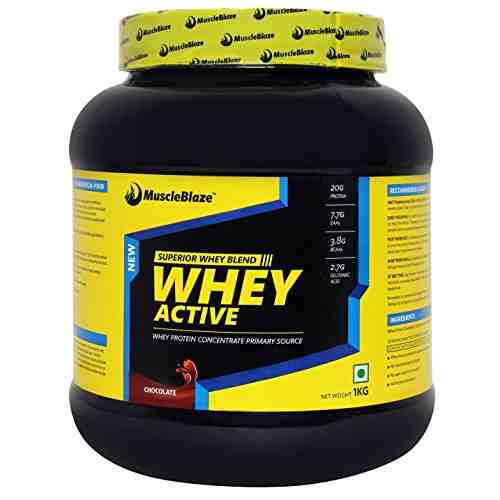 MuscleBlaze Whey Active (1Kg, Chocolate)