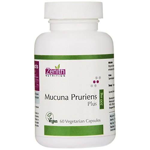 Zenith Nutrition Mucuna Pruriens Plus 200 mg Supplements (60 Capsules)