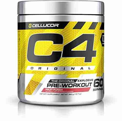 Cellucor C4 Explosive Fruit Punch Preworkout Supplement (60 Servings)