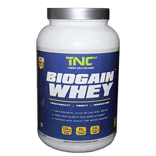 Tara Nutricare Biogain whey Protein (1Kg, Strawberry)