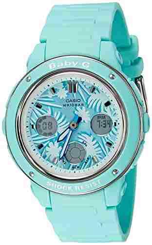 Casio Baby-G BGA-150F-3ADR (B155) Analog Digital Green Dial Women's Watch (BGA-150F-3ADR (B155))