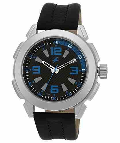 Fastrack NG3130SL02 Animal Black Dial Instinct Analog Men's Watch (NG3130SL02)