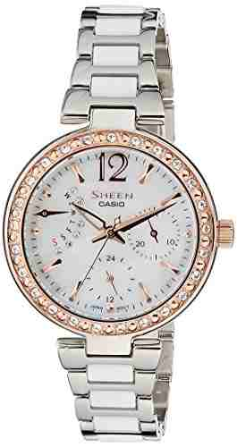 Casio Sheen SHE-3042SG-7AUDR (SX159) Analog Silver Dial Women's Watch (SHE-3042SG-7AUDR (SX159))