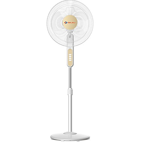 Bajaj BP07 400 mm Pedestal Fan (White)