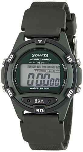 Sonata 77046PP02 Quartz Grey Round Men Watch (77046PP02)