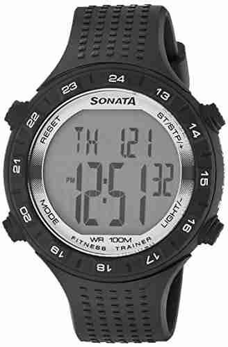 Sonata 77040PP05 Digital Grey Dial Men's Watch (77040PP05)