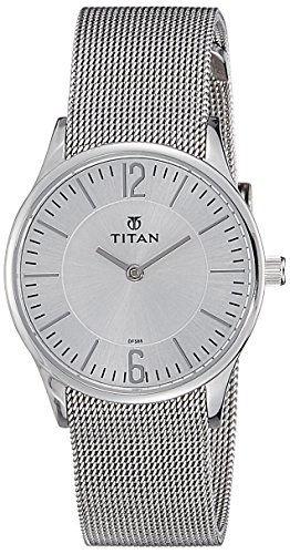 Titan 95035SM01 Analog Silver Dial Women's Watch (95035SM01)