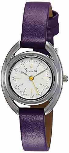 Sonata 8960SL02 Analog White Dial Women's Watch (8960SL02)