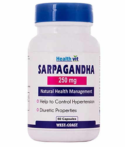 Healthvit Sarpagandha 250mg Supplements (60 Capsules)