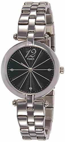 Timex TW000Z203 Analog Black Dial Women's Watch (TW000Z203)