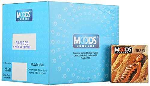 Moods Premium Ribbed Condom (120 Condoms)