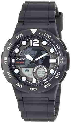 Casio Youth AEQ-100W-1AVDF (AD204) Combination Analog-Digital Black Dial Men's Watch (AEQ-100W-1AVDF (AD204))