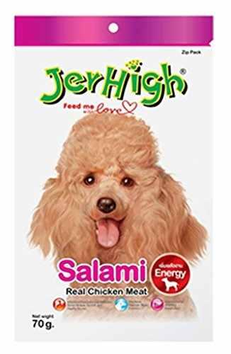 Jerhigh Salami Chicken Dog Treat 70 gm (Pack of 3)