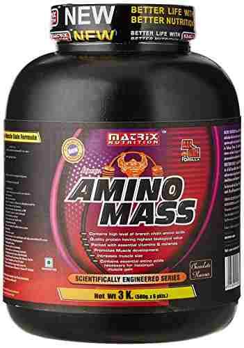 Matrix Nutrition Amino Mass Gainer (3Kg, Chocolate)