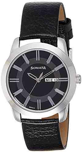 Sonata 7924SL10 Professional Black Dial Analog Men's Watch (7924SL10)