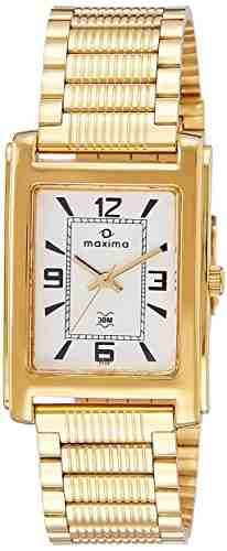 Maxima 02331CPGY Analog White Dial Unisex Watch (02331CPGY)