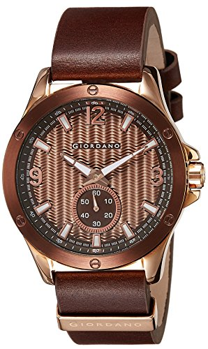 Giordano 1765-05 Brown Dial Analog Men's Watch (1765-05)