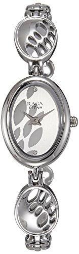 Titan Raga 2511SM06 Silver Toned Printed Dial Women's Watch (2511SM06)