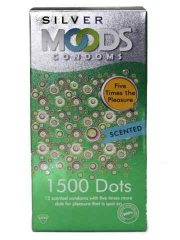 Moods Silver 1500 Dots Scented Condoms (12 Condoms)