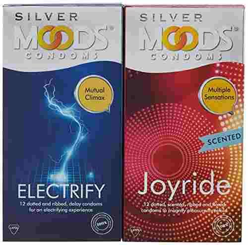 Moods Silver Joyride Scented Condoms (12 Condoms)