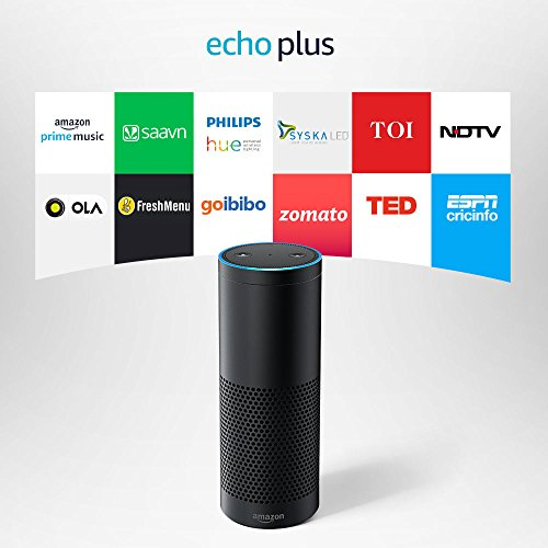 Amazon Echo Plus With Built In Smart Home Hub Portable Bluetooth Speaker, Black