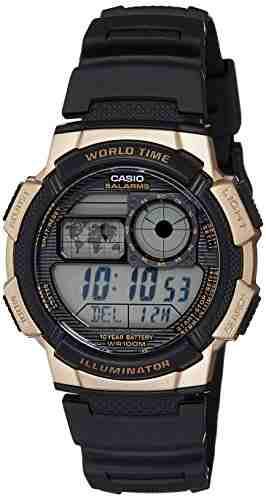Casio Youth AE-1000W-1A3VDF (D122) Digital Black Dial Men's Watch (AE-1000W-1A3VDF (D122))