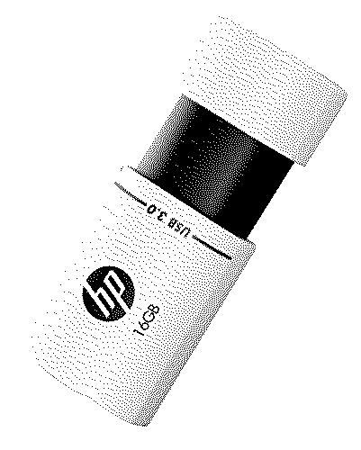 HP X765W 16GB USB 3.0 Pen Drive Black White