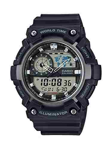 Casio Youth AEQ-200W-1AVDF (AD210) Combination Analog Digital Black Dial Men's Watch (AEQ-200W-1AVDF (AD210))