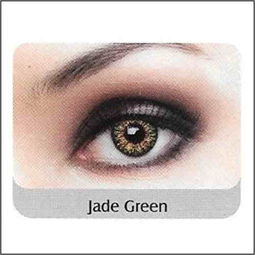 Glamour Eye Colored Disposable Monthly Contact Lens (0, Jade Green, Pack Of 2)