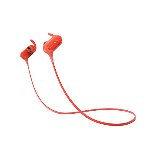 Sony MDR-XB50BSRZE Bluetooth Headphone with Mic, Red