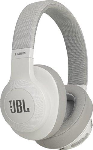 JBL E55BT On-Ear Headphones, White