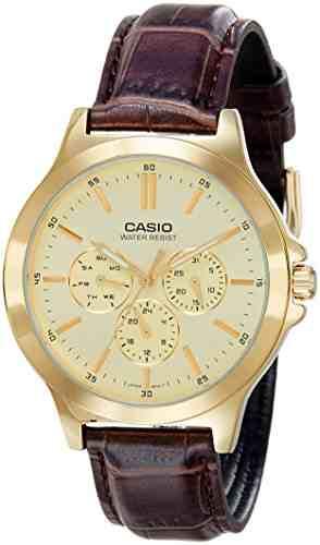 Casio MTP-V300GL-9AUDF (A1175) Analog Gold Dial Men's Watch (MTP-V300GL-9AUDF (A1175))