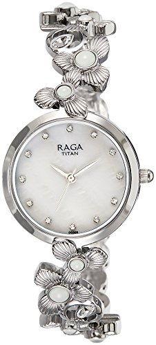 Titan Raga 95048SM01J Aurora Analog White Dial Women's Watch (95048SM01J)