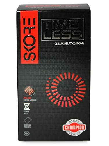 Skore Time Less Condoms (10 Condoms) - Pack of 4