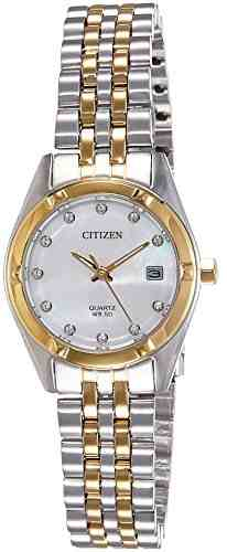 Citizen EU6054-58D Analog Mother Of Pearl Dial Women's Watch (EU6054-58D)