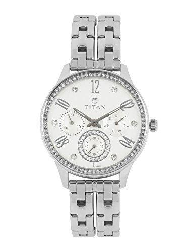 Titan 95040SM01J White Swarovski Analogue Women's Watch (95040SM01J)